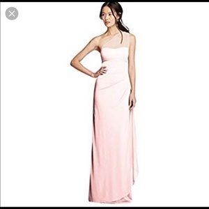 One shoulder David's Bridal Bridesmaid Dress